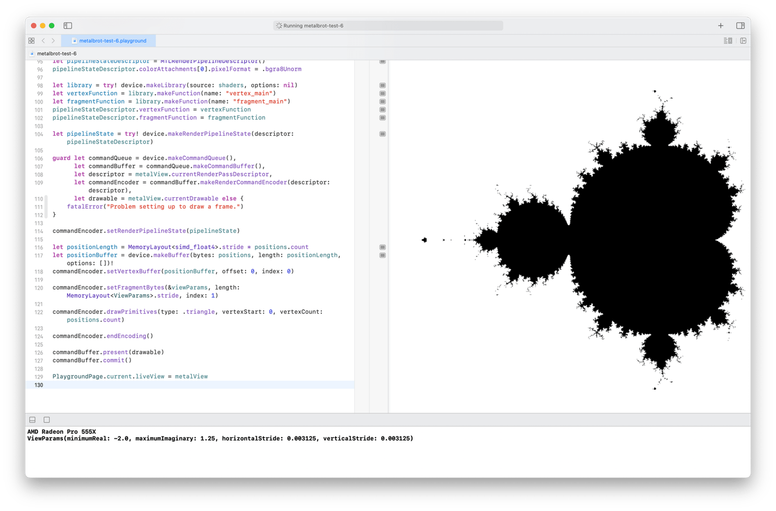 The Mandelbrot set rendered with 800 × 800 pixels, in black and white
