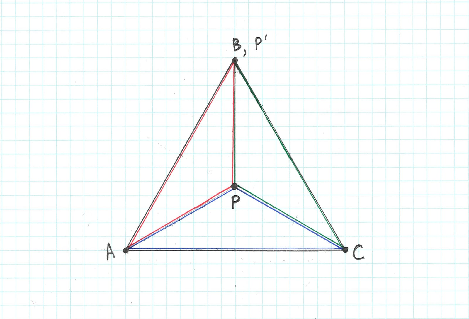 Barycentric coordinates on an equilateral triangle
